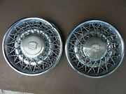 2 Hubcaps 1975-1985 Cadillac 15 Wire Spoke Wheel Covers 16725 253786