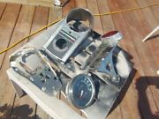 Harley-davidson Shovelhead Parts Lot, Flh Style Center Console With Back And Pla