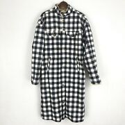 Thirty 6 Point 5 Menand039s Size Large Black White Gingham Faux Fur Lined Jacket