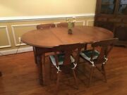 Antique Dining Table Late 1800s And Chairs, Dining Set