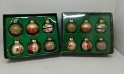 Department 56 Set Of 12 Mercury Glass Christmas Ornaments Place Card Holders
