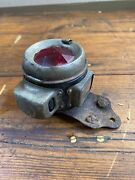 Rare Early 1910s Motorcycle Acetylene Tail Light By Powell And Hanmer Birmingham