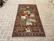 Vintage Pictorial With Afghanistan Map City Name Shikargah Wall Hanging Carpet
