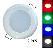 Pactrade Marine Rv Boat Pontoon Red Green Blue White Led 2 Pcs Courtesy Ceiling