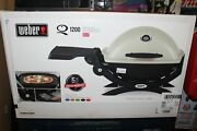 Weber Q 1200 Portable Tabletop Propane Gas Bbq Grill Quick Outdoor Camping