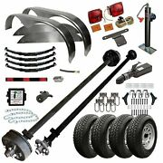 Tk Trailer Kit - Master Plan 1214 - 6and039 X 14and039 Tandem Axle 7k Utility Lowboy Trail
