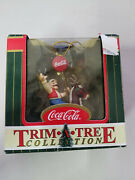 Elf On Reindeer Carousel Ornament 1999 Coca-cola Trim-a-tree Collection/ In Box