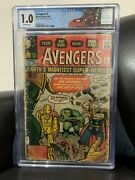 Avengers 1 1963 Cgc 1.0 C/ow Pages Marvel Comics First Appearance Avengers 9/63