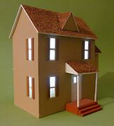 Vintage Handmade Two Story House Model For Display Diorama Lionel Train Layout