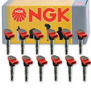 12 Pcs Ngk Ignition Coil For 2012 Audi A8 Quattro 6.3l W12 - Spark Plug Tune Wx