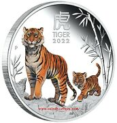 Year Of The Tiger 1 Oz Proof Silver Coin Colored Australia 2022