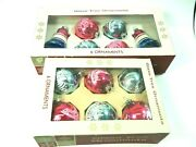 12 Bicentennial Christmas Ornaments Balls And Bells 1776-1976 Glass Made In U.s