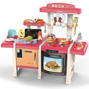 Surprise Gifts Toys For Kids Toddler Cooking Kitchen Playhouse Toy W/ Led Music