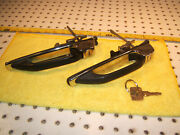 Mercedes W123 1977-85 Front Doors L And R Lock Handle 2 Assemblys And Working 1 Key