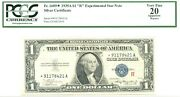 1935a 1 Silver Certificate Fr1609 R Experimental Notepcgs Vf20 Star Note