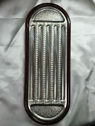 Sterling Silver 925 Cigar Lacquered Wood Ash Tray Platter Marked