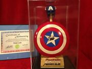 Captain Americaand039s Shield And Helmet By Sideshow Signed Stan Lee / Pre-owned Mint