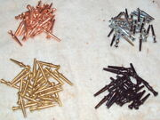 400 Metal Cribbage Pegs For 1/8 Holes - 4 Colors Gold Silver Copper Black