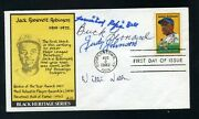Willie Wells, Buck Leonard, Cool Papa Bell, Judy Johnson-special Signed Cover
