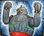 Gigantor Space Age Robot New 16x20 Painting 60s Japanese Tv Show Anime Crowell