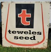 Vintage Teweles Seed Agricultural Farming Sign 57 X 57