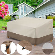 Waterproof Patio Furniture Cover Sofa Bench Loveseat Cover Windproof Protection