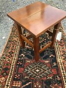 Antique Stickley Bros Taboret Table With Paper Label. W5466