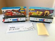 Athearn Bb 3233 And 3034 Ho F7a Pwd And B Dummy Locomotive-amtrak 100 And 154-ec