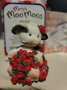 Box Of 72 New Enesco Maryand039s Moo Moos Collectibles Kiss A Bull With Roses