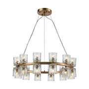 Elk Home D4180 Double Vision 24 Light 25w Shaded Ring Chandelier - Brass
