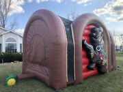 Commercial Inflatable Bounce House Shooting Gallery Paintball Bazooka Ball