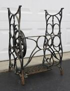 Shabby Rustic Vintage Antique Cast Iron Sewing Machine Table Legs Base