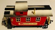 Vintage 1986 New Bright Western Rr Lines G Scale Train Caboose Red