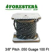 100ft Roll 3/8 .050 Full Chisel Chainsaw Chain 72lgx100 A1lm100 33rsc Forester
