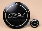 Motorcycl Black Aluminum 103 Derby Timer Engine Cover For Harley Street Glide