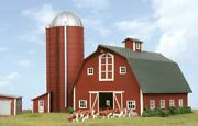 American Model Builders 630 Laser Art Country Barn With Silo N Scale Kit