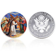 Luxury Souvenir Gifts Silver Plated Metal Coin Jesus Gift Coin Art Ornament