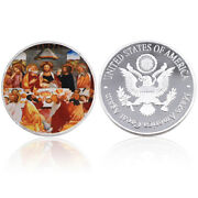 Collectible Souvenir Gifts Jesus Silver Plated Metal Coin World Coin Art Crafts