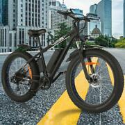 26 Inches Fat Tire Mountain Ebike 500w 48v 10ah Lithium Battery Usa Stock