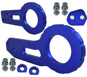 Jdm 2 Anodized Billet Cnc Aluminum Racing F. And Rear Tow Towing Hook Blue K162