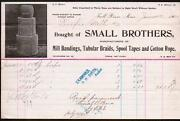 1905 Fall River Ma - Small Brothers - A W Smith - Bandings Braids - Letter Head
