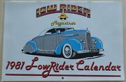 Low Rider Magazine Calendar Issue 1981 Uncirculated Cholo Gang