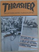 Thrasher Skateboard Magazine May 1981 Skate Early 80and039s Uncirculated