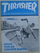Thrasher Skateboard Magazine April 1981 Skate Early 80and039s Uncirculated