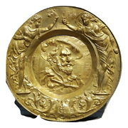 Antique Brass Rare Large Charger Tribute To Pierre Paul Rubens