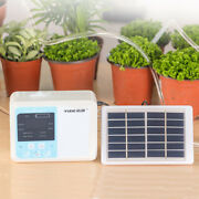 Automatic Drip Irrigation Pump Self Watering System+solar Energy Usb Charging