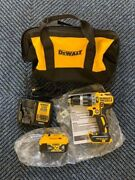 Dewalt Dcd796 20v Max Xr Cordless Hammer Drill With Battery And Charger Bag