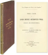 Trial / Case Of Lord Henry Seymourand039s Will Wallace V The Attorney-general 57714