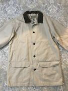 Mens Ll Bean Barn Chore Field Jacket Coat Flannel Lined Large Tall