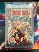 Marvel Comics Iron Man And Submariner 1 Graded Cgc 6.5 White Pages